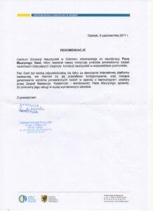 rekomendacja Maurycy Gast