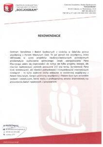 rekomendacja informatyka