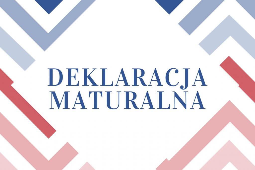 deklaracja matury z informatyki
