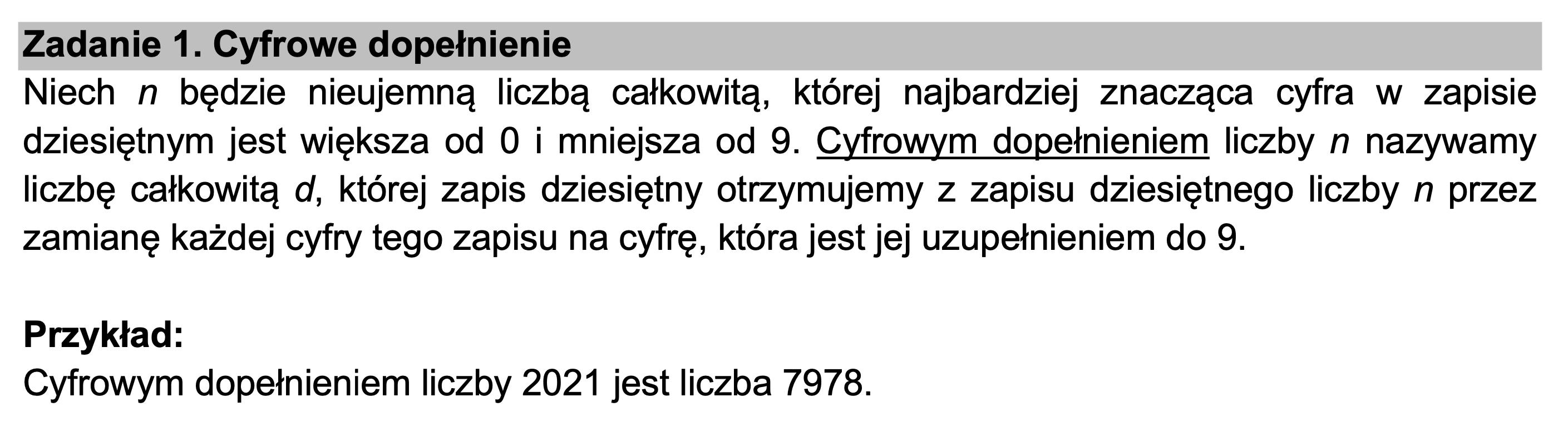 matura z informatyki 2021 zadanie 1