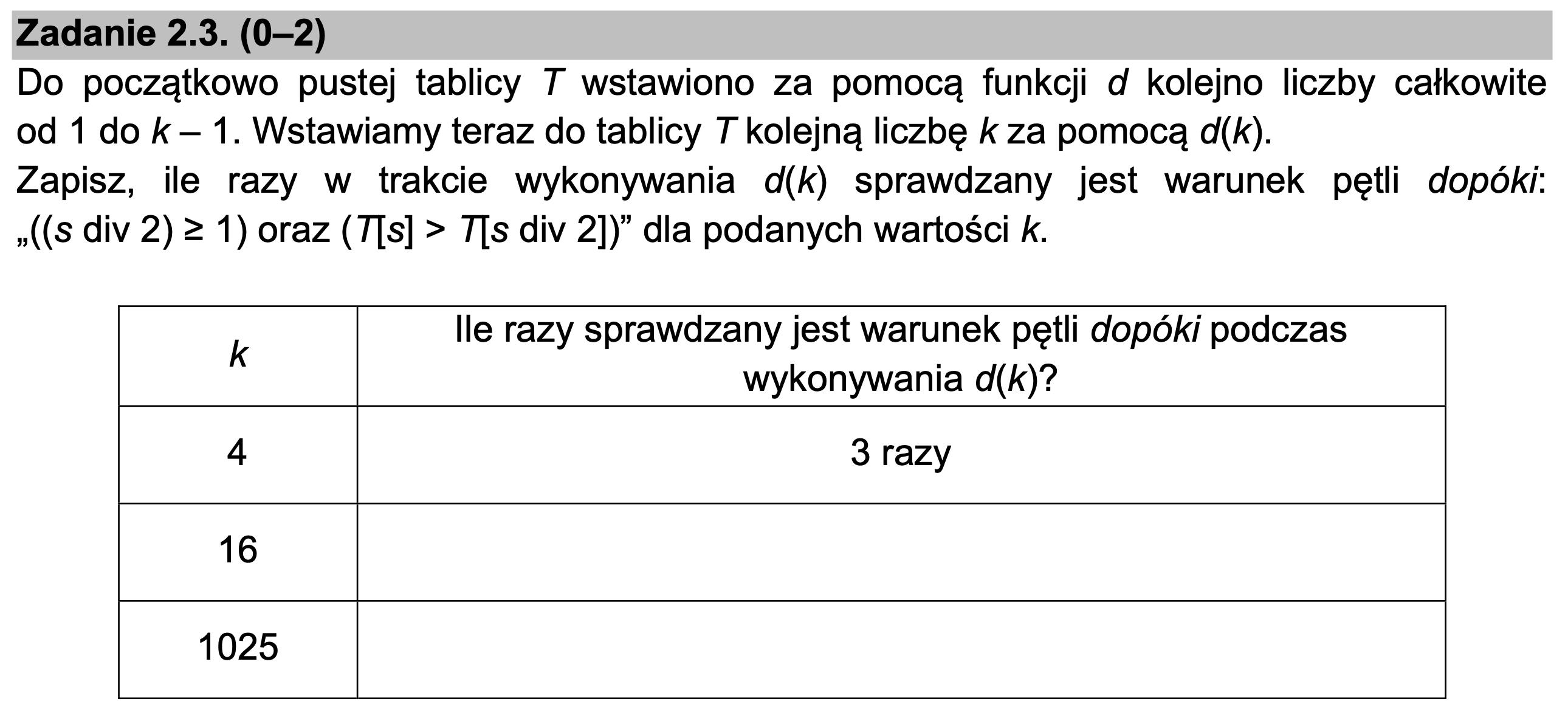 matura z informatyki 2021 zadanie 2.3