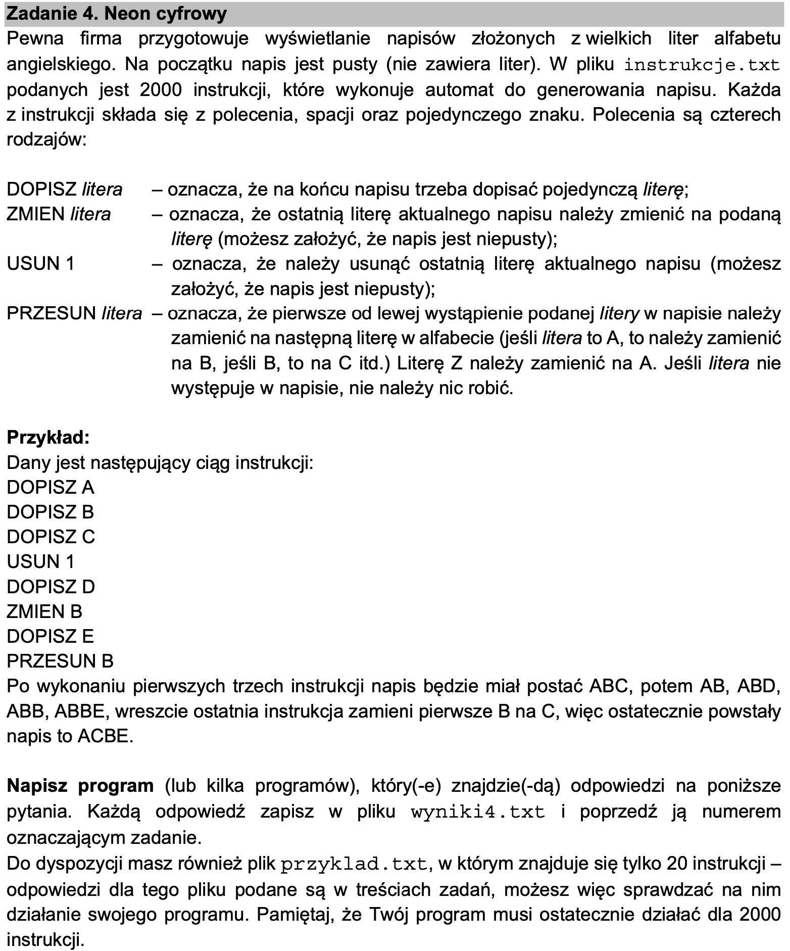 matura z informatyki 2021 zadanie 4